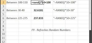 Generate random numbers (with decimals) in Excel