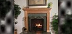 Make over a fireplace with tile and a mantle