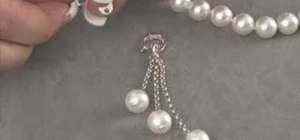 Use a sterling silver pearl enhancer