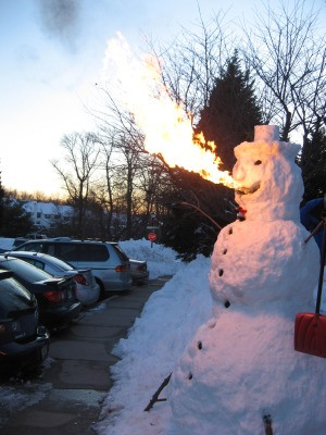 Fire Breathing Snowman