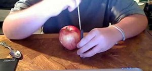 Make an apple bowl for smoking marijuana or tobacco