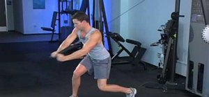 Work you abs and core with cable Russian twists