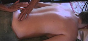 Massage the lower back and hips properly