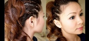 Style a chic braided party half updo