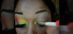 Apply a MAC makeup rainbow eye look