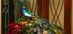 Decorate your Christmas tree in a peacock/golden splendor style