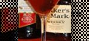 Make the sour cherry Manhattan cocktail