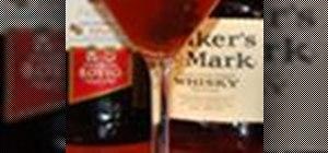 Make the sour cherry Manhattan cocktail