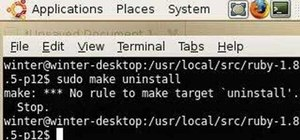 Uninstall Ruby on Rails in Ubuntu