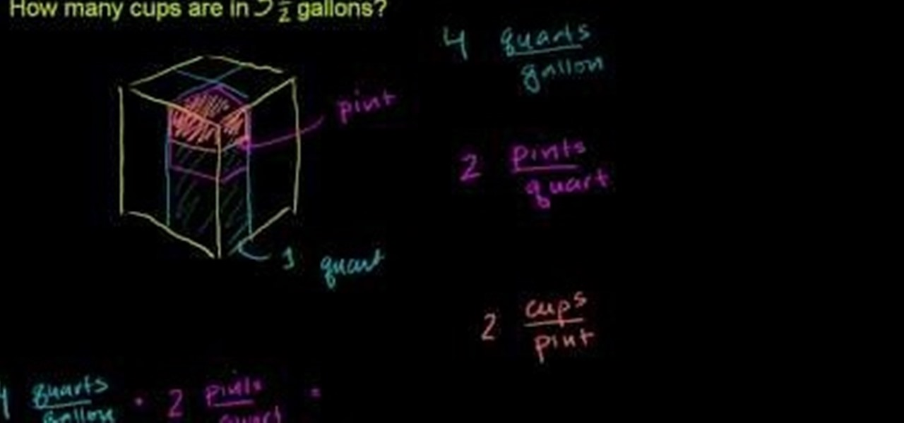 how to convert from gallons to quarts pints and cups in basic math math wonderhowto. Black Bedroom Furniture Sets. Home Design Ideas