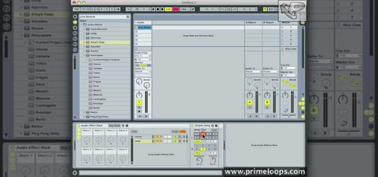 how to use the audio effects rack in ableton recording production wonderhowto. Black Bedroom Furniture Sets. Home Design Ideas