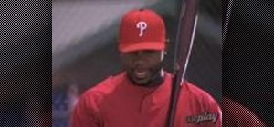 Set up in the batter's box with Ryan Howard