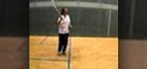 Hit a forehand volley shot in squash