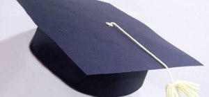 Make a paper graduation cap with your kids