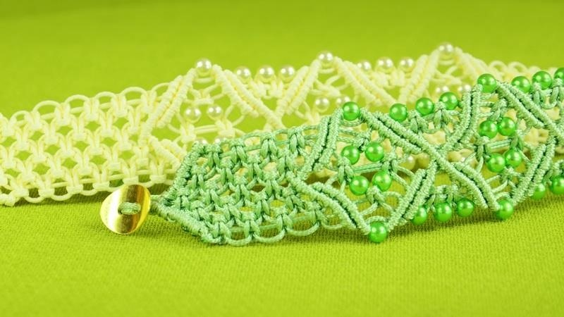 DIY Square Knot Bracelet with Diamonds
