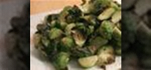 Make roasted Brussels sprouts with truffle oil