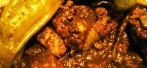 Make Filipino dinuguan (blood & meat stew)