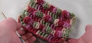 Crochet a cute blackberry stitch for right handers