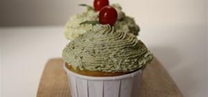 Italian Pesto Cupcakes