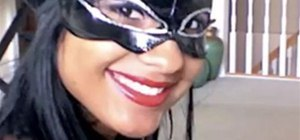 Create a Halloween Costume and Apply Makeup for Catwoman