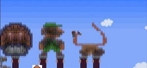 Make Super Mario Goomba pixel art in Terraria