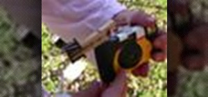 Make an aerial photo rig with a disposable camera