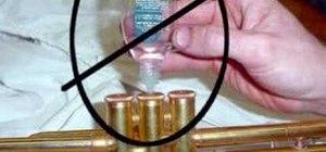 Oil piston valves on trumpets for instrument repair