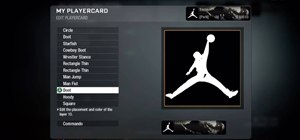Draw a Michael Jordan Jumpman emblem in the Black Ops emblem editor