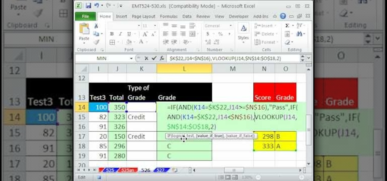 How To Create A Pass Fail Grade Formula In Microsoft Excel