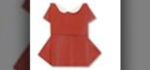 Origami a paper Japanese red one piece dress