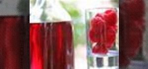 Make a raspberry-flavored vodka infusion