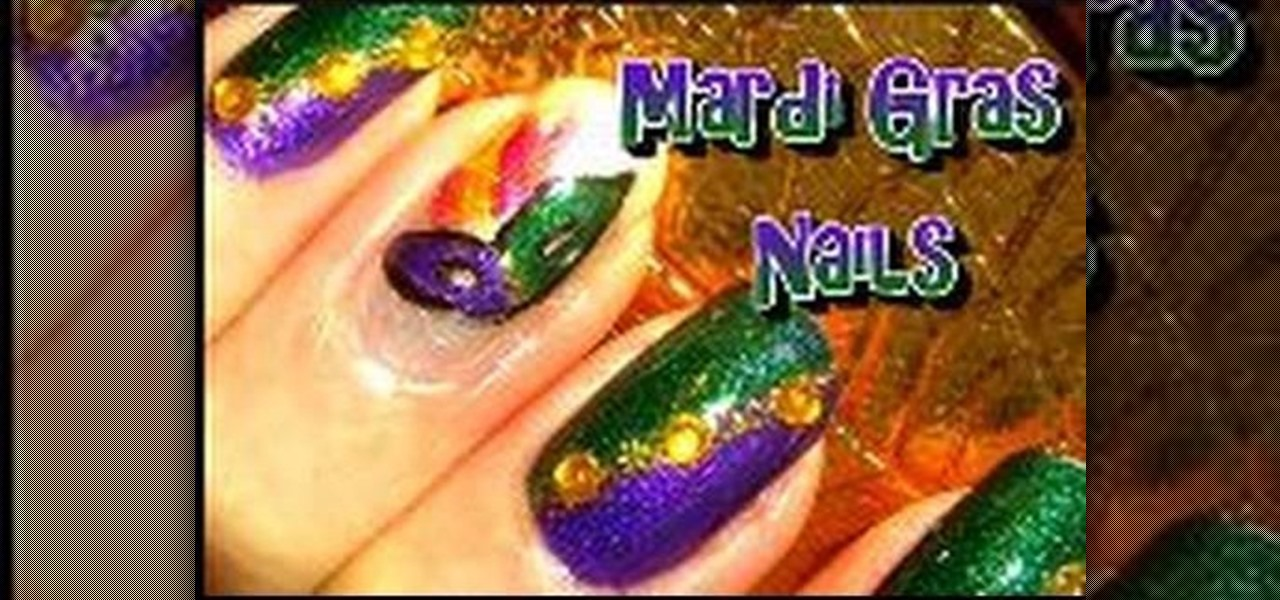 How to Create colorful fingernails for Mardi Gras « Nails & Manicure ...