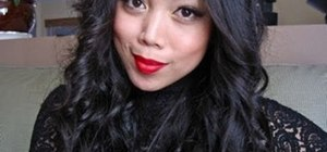 Create a glamorous pin up holiday makeup look