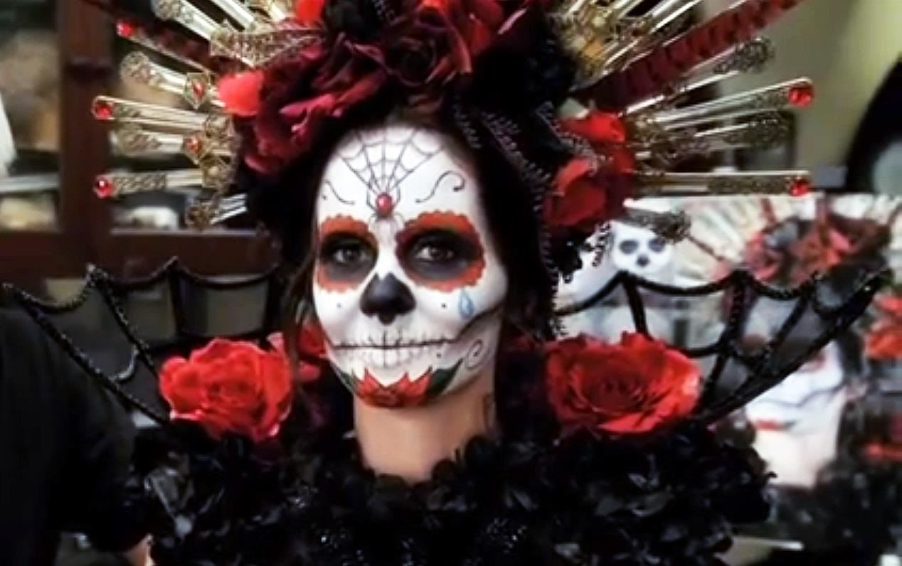 Day of the Dead: DIY Sugar Skull Halloween Look with Rick Baker ...