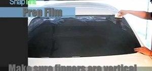 Heat shrink rear window tint