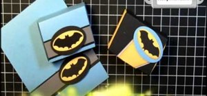 Craft a superhero Batman bat signal box and favor