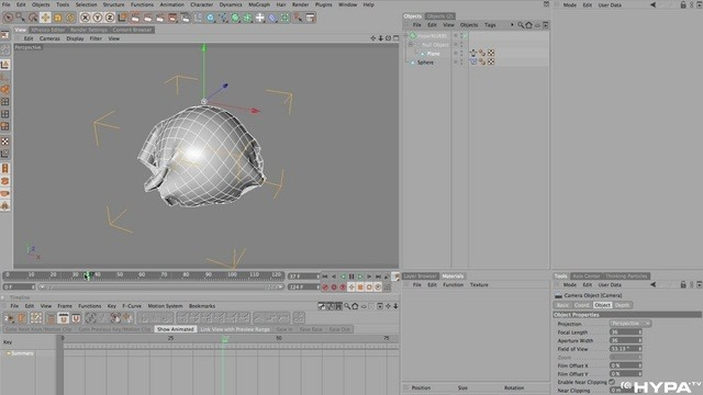 Use the Point Cache deformer in Cinema 4D