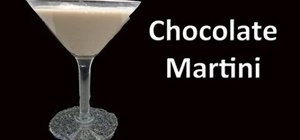 Make a chocolate martini cocktail drink