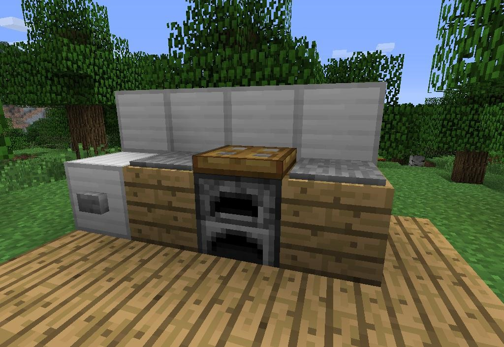 How to make furniture in minecraft minecraft for Minecraft exterior design ideas