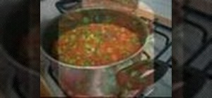 Cook okra with tomato sauce