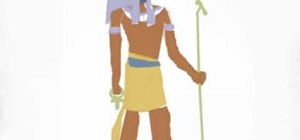 Draw the Egyptian god Annubis in Paint on the computer