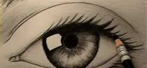 Draw a realistic human eye