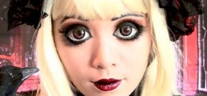 Get a Gothic Lolita doll makeup look inspired by anime