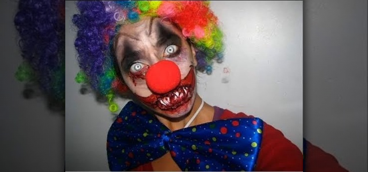 Clown Face Paint Designs Scary