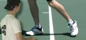 Practice proper tennis footwork from baseline forward