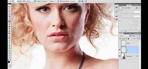 Clean up the background when retouching an image in Adobe Photoshop CS5