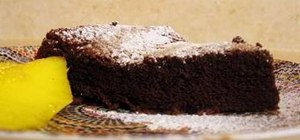 Make a delicious chocolate cake with four ingredients