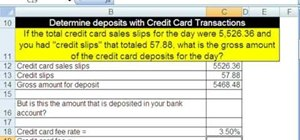 Make credit card calculations with Microsoft Excel