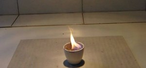 Make a lilac flame with sugar and potassium chlorate